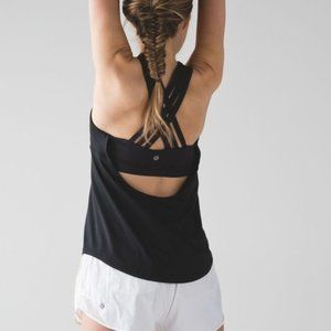 GRAY Striped Beat the Heat Strappy Tank Open Back